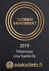 Suomen vahvimmat 2019 - Tilitoimisto Liisa Tyynilä Oy
